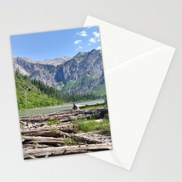 Avalanche Lake, Montana Mountain Scene Stationery Cards