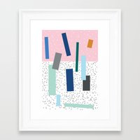 friday Framed Art Prints featuring Friday by Mimmi Wide