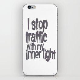 Stop Traffic iPhone Skin