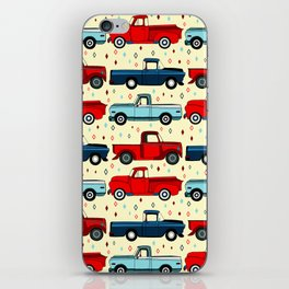 Winter Vintage Trucks iPhone Skin