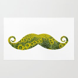 Moustache Sunflowers Rug