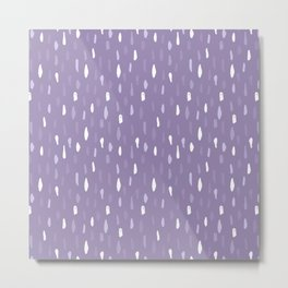 Stains Abstract Ultraviolet Metal Print