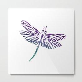 Shimmering Dragonfly Metal Print