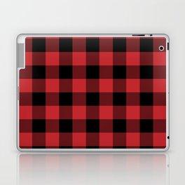 Red and Black Buffalo Plaid Lumberjack Rustic Laptop & iPad Skin