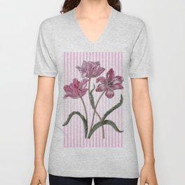 Maria Sibylla Merian: Three Tulips Unisex V-Neck