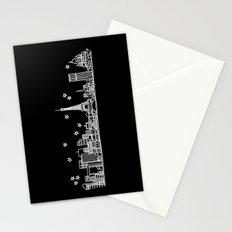 Paris, France City Skyline Stationery Cards