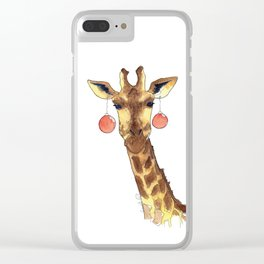 Girafe de Noël Clear iPhone Case