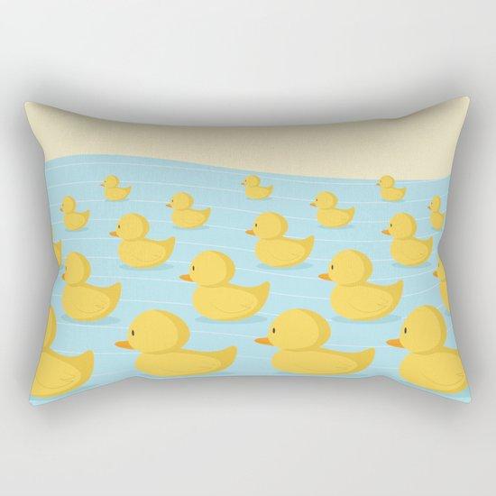 Rubber Duckie Army Rectangular Pillow