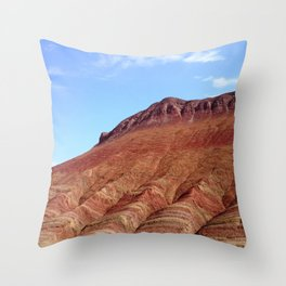 colorful mineral mountain photography 2 Throw Pillow