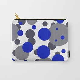 Bubbles blue grey- white design Carry-All Pouch