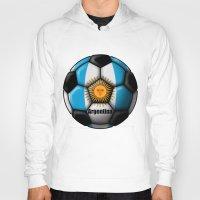 argentina Hoodies featuring Argentina Ball by kuuma