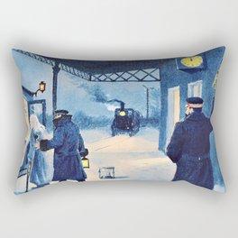 Paul Gustav Fischer - The Last Train - Digital Remastered Edition Rectangular Pillow