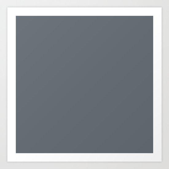 Pebble Gray Art Print