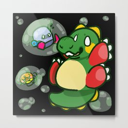 "Bubble Bobble ""Bub"" ! Metal Print"