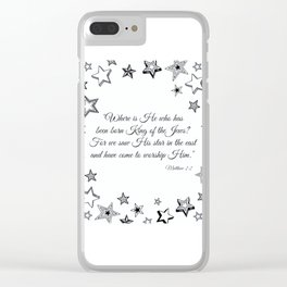 Stars and King of Jews Clear iPhone Case