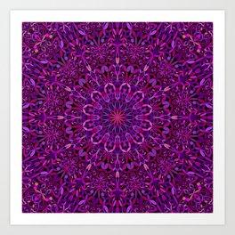 Pretty Purple Mandala Garden Art Print