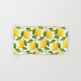 Watercolor Lemons Hand & Bath Towel