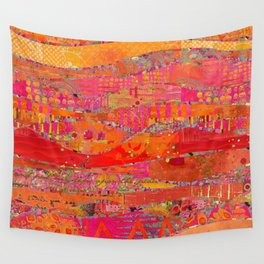 Firewalk Abstract Art Collage Wall Tapestry