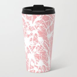 Branching out in Coral Travel Mug