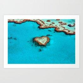 Heart Coral Reef - Queensland, Australia Art Print