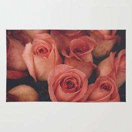 vintage pink roses Rug