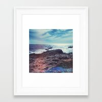 salt water Framed Art Prints featuring Salt Water by Viviana Gonzalez