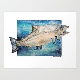 King Salmon Art Print