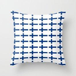 Flag of Finland 3 -finnish, Suomi, Sami,Finn,Helsinki,Tampere Throw Pillow
