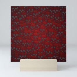 Subtle skull wall red Mini Art Print