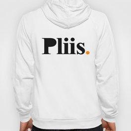 Pliis Black on White Hoody
