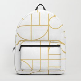Minimalist Mid Century Modern Gold Pattern Backpack