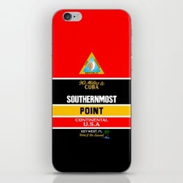 Southern Most Point, Key West, Florida/サザン・モスト・ポイント iPhone Skin