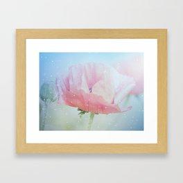 Snowflakes Poppies Framed Art Print