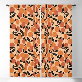 Seamless Citrus Pattern / Oranges Blackout Curtain