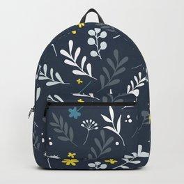 Floral Pattern 1 - Blue Backpack