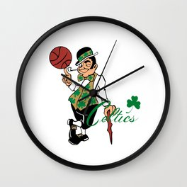 celtics man Wall Clock