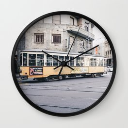 Tram in Milan Wall Clock