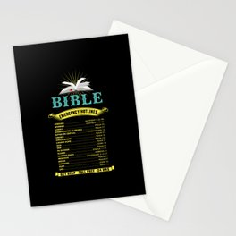 Christianity - Bible Emergency Hotlines Stationery Cards