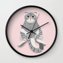 British cat digital illustration Wall Clock