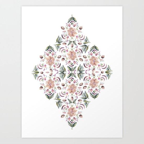 Tribe Floral Vibes Art Print