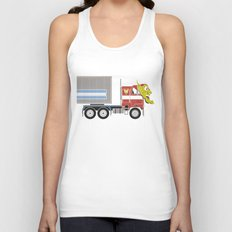 Robot's Wrong Disguise Unisex Tank Top