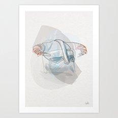 One line Skyrim helmet Art Print