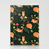 foxes Stationery Cards featuring Foxes by Julia Badeeva