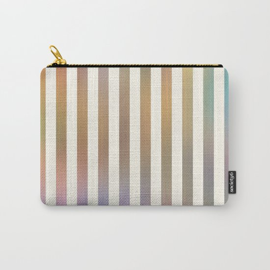 Striped Pattern in Pastel Colors Carry-All Pouch