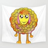 sheep Wall Tapestries featuring Sheep by Moonworkshop