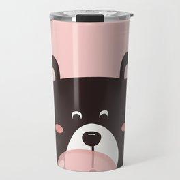 Bear with bubble gum Travel Mug