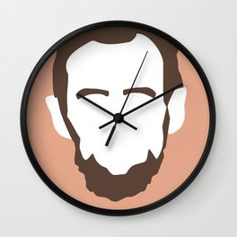 Faces Series: Lincoln Wall Clock