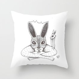 Fluffy Bunny- Shock Therapy Throw Pillow