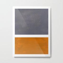 Grey Yellow Ochre Rothko Minimalist Mid Century Abstract Color Field Squares Metal Print