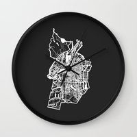 amsterdam Wall Clocks featuring AMSTERDAM by Nicksman